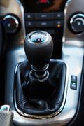 Six Speed Stick Shift Car Transmission - stock photo