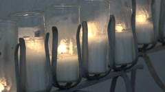 Texas Goliad Presidio La Bahia candles burning Stock Footage