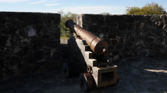 Texas Goliad Presidio La Bahia cannon Stock Footage