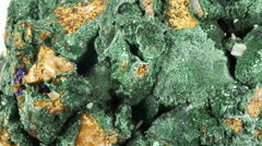 Malachite mineral sample tracking shot. Stock Footage