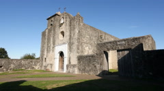 Texas Goliad Presidio La Bahia church Stock Footage
