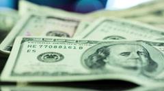Hundred Dollar Bill Close Up - stock footage