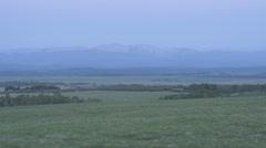 Sunrise Time Lapse on Mountains Stock Footage