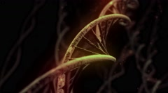 DNA spinning RNA double helix slow science electron microscope closeup dof 4K Stock Footage