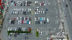 Aerial View of Car Park The Mall 4K Clip Shot by Drone Cam Stock Footage