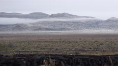 Texas western landscape with low clouds and hills Stock Footage