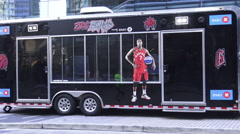 Fan Zone on First Game of NBA Playoffs, Toronto  Arkistovideo