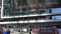 Front entrance of Air Canada Centre (ACC) Toronto, Canada - stock footage