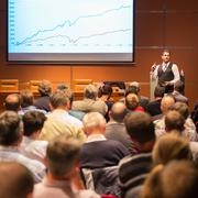 Speaker at Business Conference and Presentation. - stock photo