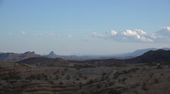 Texas Terlingua desert landscape with cloud Stock Footage