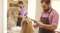 Hairdresser Dye the Hair - stock footage