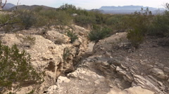 Texas Terlingua gully view Stock Footage