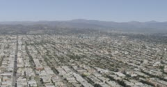 WS AERIAL View of suburban district Stock Footage