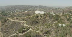 WS AERIAL View of Griffith observatory Stock Footage