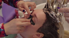 Girl in a Beauty Parlor Stock Footage