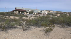 Texas Terlingua Trading Company car goes by Stock Footage