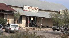Texas Terlingua Trading Post zoom out Stock Footage