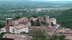 Civita ancient village of Bojano, Campobasso Stock Footage