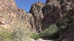 Texas Big Bend Burro Mesa Pouroff canyon Stock Footage