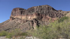Texas Big Bend Burro Mesa rock strata - stock footage