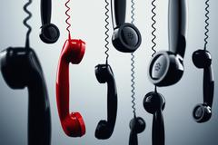 3D rendering telephone handset - stock illustration