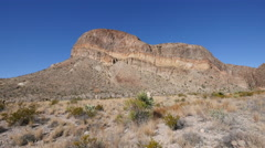 Texas Big Bend strata across mesa - stock footage