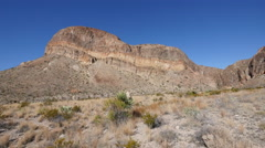 Texas Big Bend strata on mesa pan - stock footage