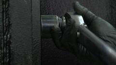 Industrial Wrench Work Ratchet - stock footage