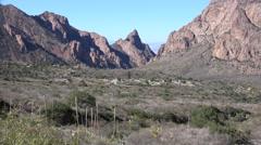 Texas Big Bend Chisos Basin landscape Stock Footage