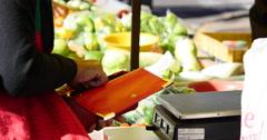 People buying vegetables, Fresh Market, Sao Paulo, Brazil. - stock footage