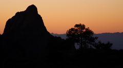 Texas Big Bend Chisos jagged rock at sunset Stock Footage