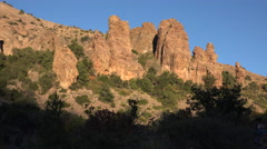 Texas Big Bend Chisos Mountain stark rocks pan left Stock Footage