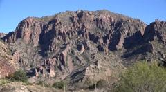Texas Big Bend rugged mountainside Stock Footage