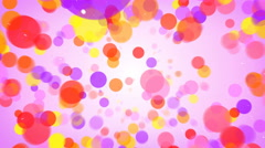 Flying colorful circles abstract background seamless loop 4k UHD (3840x2160) Stock Footage