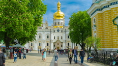The Easter in Kiev Pechersk Lavra Stock Footage