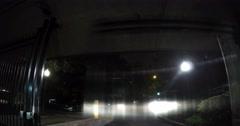 Atlanta to Alpharetta Night Lapse Slow Shutter Vehicle POV Stock Footage