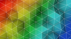 Colorful triangle polygons background loopable 4k UHD (3840x2160) Stock Footage