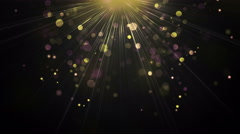Light rays and particles loopable background 4k (4096x2304) Stock Footage