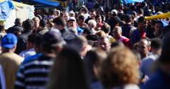 4K Crowd, Brazilian People, Street Market, Farmer Market - Sao Paulo, Brazil. - stock footage