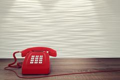 3D rendering of red telephone Piirros