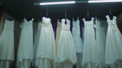 Bridal shop, Boutique Wedding Dress Store Stock Footage