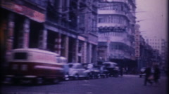 3265 post war Japanese city streets filmed from car - vintage film home movie Stock Footage