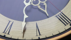Vintage Analog Antique Clock with Arrows - stock footage