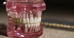 Model Teeth Pull Back Stock Footage