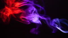 Colorful Smoke On Black Background, Slow Motion. Real scene Stock Footage