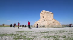 in iran   pasargad the   temple - stock footage