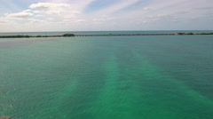 Aerial tour of the overseas highway florida keys - stock footage