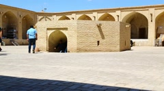 In iran antique palace and  caravanserai Stock Footage