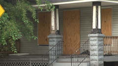 Boarded up home Cleveland, Ohio - stock footage