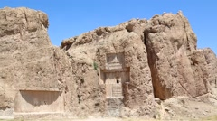 In iran near persepolis the old ruins Stock Footage
